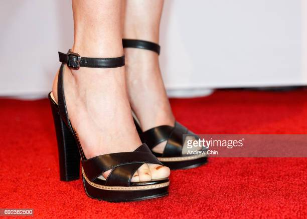 Canadian actress Tammy Gillis shoe detail attends the Leo Awards 2017 at Hyatt Regency Vancouver on June 4 2017 in Vancouver Canada