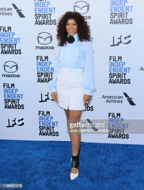 Canadian actress Taylor Russell arrives for the 35th Film Independent Spirit Awards in Santa Monica California on February 8 2020