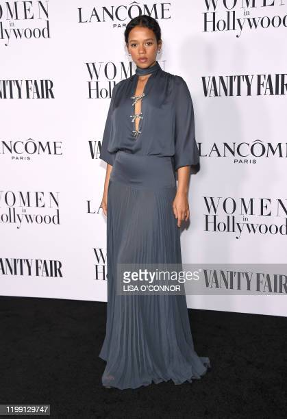 Canadian actress Taylor Russell attends the Vanity Fair and Lancome Women In Hollywood Celebration at SoHo House West Hollywood in West Hollywood...