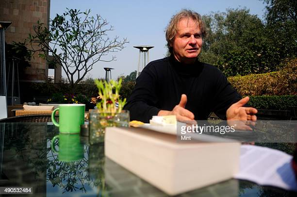 Canadian anthropologist ethnobotanist author and photographer Wade Davis poses for profile shoot on January 23 2013 in New Delhi India Wade Davis is...