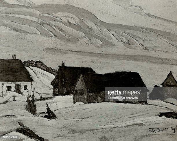 Canadian Artists Aid spanish Refugee Children The work of Sir Frederick Banting discoverer of insulin this Canadian winter scene is one at the Prince...