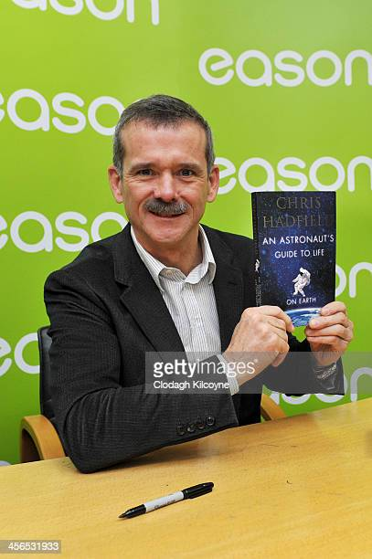 Canadian astronaut Chris Hadfield attends a book signing for his book 'An Astronaut's Guide to Life on Earth' in Eason book shop on O'Connell Street...