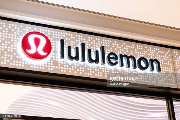 Canadian athletic apparel retailer, Lululemon logo seen in Shenzhen.