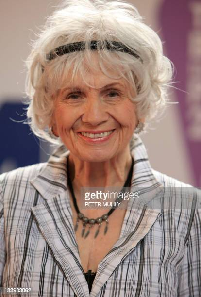 Canadian author Alice Munro smiles as she receives her Man Booker International award at Trinity College Dublin in Dublin Ireland on June 25 2009...