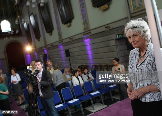 Canadian Author Alice Munro winner of the 2009 Booker International Prize at attends a press conference at Trinity College Dublin The prize is worth...