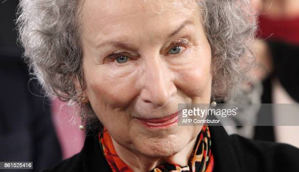 Canadian author Margaret Atwood arrives for the award ceremony of the Peace Prize of the German Book Trade in Frankfurt am Main western Germany on...