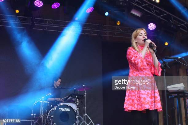 Canadian band Austra performs at Body Soul Festival at Ballinlough Castle on June 25 2017 in Co Westmeath Ireland