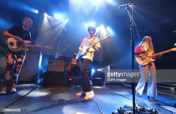 Canadian band Calpurnia, fronted by the TV's Stranger Things actor Finn Wolfhard are seen performing during a play a sell out gig at the Koko, Camden.