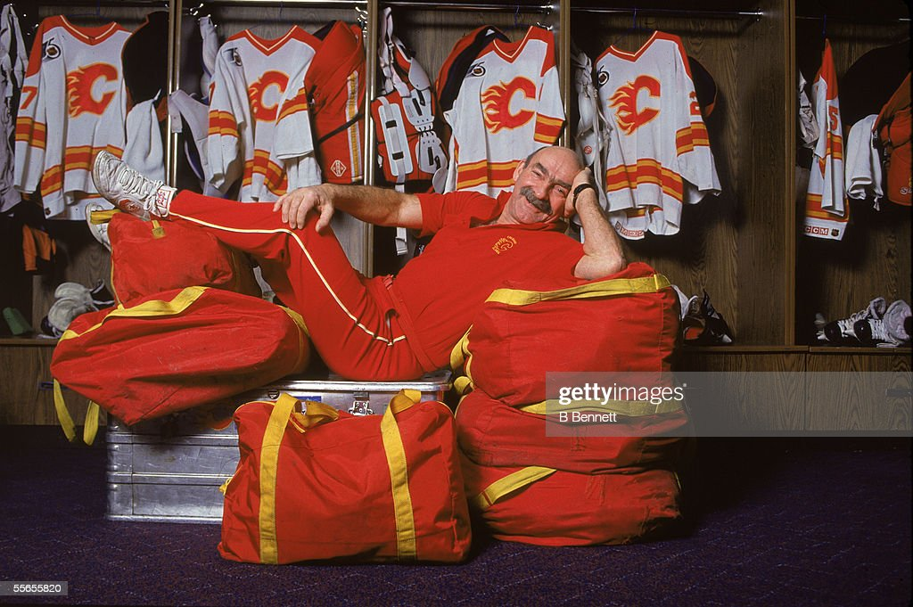 classic fit bb69c 27af6 Canadian Bearcat Murray, trainer of the Calgary Flames ...