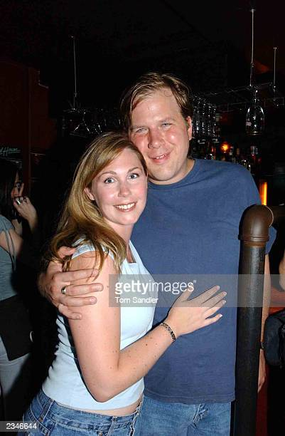 Canadian Blues guitarist Jeff Healy and wife, Christie, attend a pre-SARS concert at Healy's July 29, 2003 in Toronto, Canada. Healy is backing up...