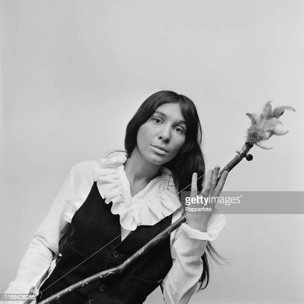 Canadian born American singer and musician Buffy SainteMarie pictured prior to appearing on the television series 'Heartsong' in London in June 1965