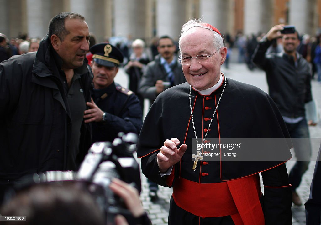 Canadian cardinal Marc Ouellet is photographed by media as he leaves the final congregation before cardinals enter the conclave to vote for a new Pope, on March 11, 2013 in Vatican City, Vatican. Cardinals are set to enter the papal conclave to elect a successor to Pope Benedict XVI after he became the first pope in 600 years to resign from the role. The conclave is scheduled to start on March 12 inside the Sistine Chapel and will be attended by 115 cardinals as they vote to select the 266th Pope of the Catholic Church.