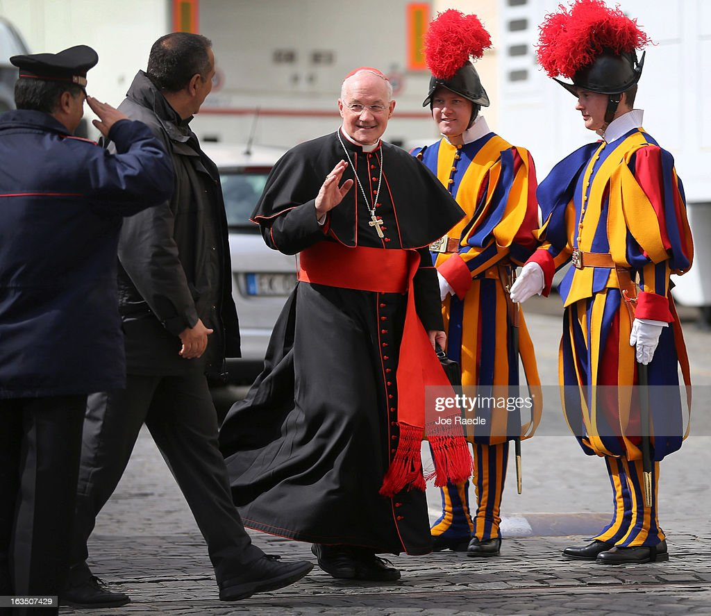Canadian Cardinal Marc Ouellet leaves after attending the final congregation before electing a new Pope, on March 11, 2013 in Vatican City, Vatican. Cardinals are set to enter the conclave to elect a successor to Pope Benedict XVI after he became the first pope in 600 years to resign from the role. The conclave is scheduled to start on March 12 inside the Sistine Chapel and will be attended by 115 cardinals as they vote to select the 266th Pope of the Catholic Church.