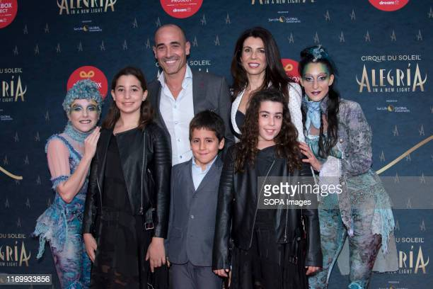 PLACE TORONTO ONTARIO CANADA Canadian celebrity chef David Rocco his wife Nina Rocco and childrens Dante Emma and Giorgia Rocco attend the red carpet...