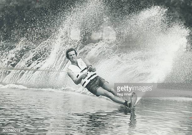 Canadian champ on the move Water skier George Athans is defending his professional water skiing championship on weekend at Centre Island while...