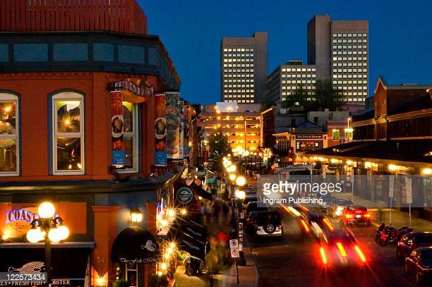 canadian cities, night life in the byward market, ottawa canada. - ottawa stock pictures, royalty-free photos & images