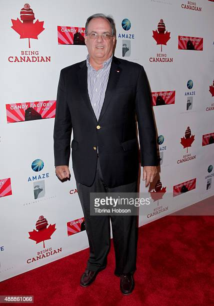 Canadian Consul General James Villeneuve attends the premiere of 'Being Canadian' at Crest Westwood on September 17 2015 in Westwood California