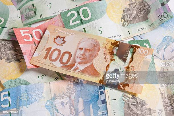 canadian currency - canadian dollars stock pictures, royalty-free photos & images
