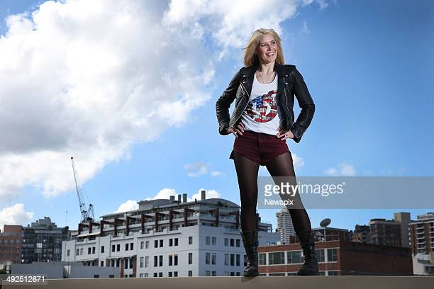Canadian daredevil Jolene Van Vugt poses at the Rydges Sydney Central Hotel in Surry Hills on May 12 2014 in Sydney Australia Van Vugt is in Sydney...