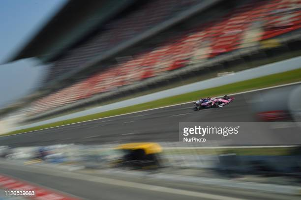 Canadian driver Lance Stroll of English team Racing Point F1 Team Force India driving his singleseater during Barcelona winter test in Catalunya...