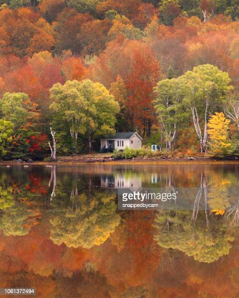 canadian fall colours - cape breton island stock pictures, royalty-free photos & images