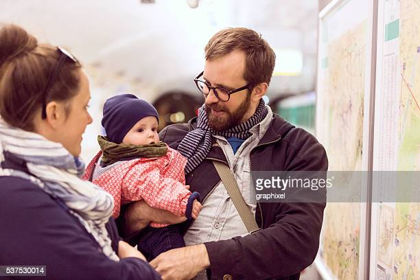 Canadian Family in Paris Metro