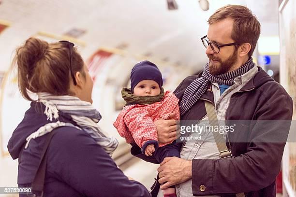 Canadian Family in Paris Metro