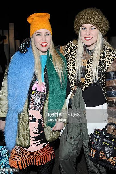 Canadian fashion bloggers Cailli Beckerman and Sam Beckerman attend the ICB By Prabal Gurung Show during Mercedes-Benz Fashion Week Fall 2014 at...