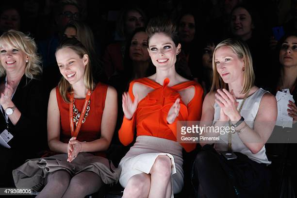 Canadian fashion model Coco Rocha attends the World MasterCard Fashion Week Fall 2014 Collections at David Pecaut Square on March 17 2014 in Toronto...