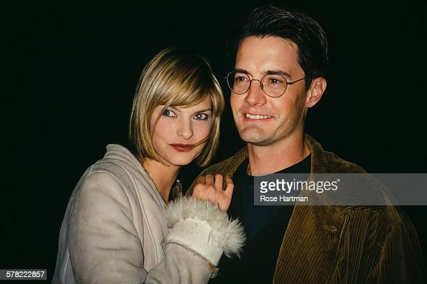 Canadian fashion model Linda Evangelista with her partner actor Kyle MacLachlan at Irving Plaza New York City USA circa 1995