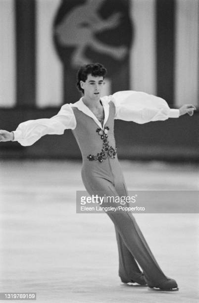 Canadian figure skater Brian Orser competes for Canada in the Men's singles event at the St Ivel International figure skating competition at Richmond...