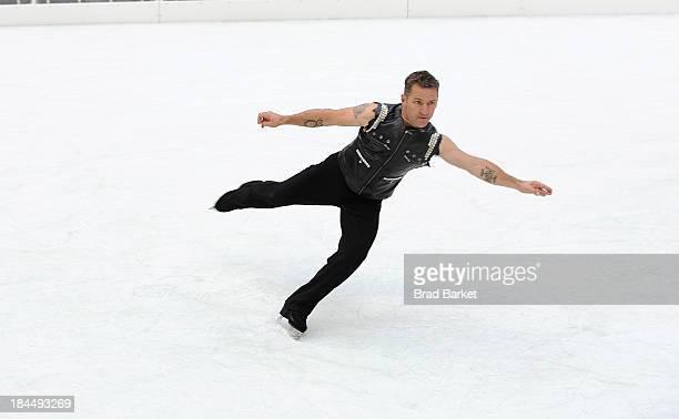 "Canadian figure skater Elvis Stojko attends ""The Rink At Rock"" 2013-2014 season opening at The Rink at Rockefeller Center on October 14, 2013 in New..."