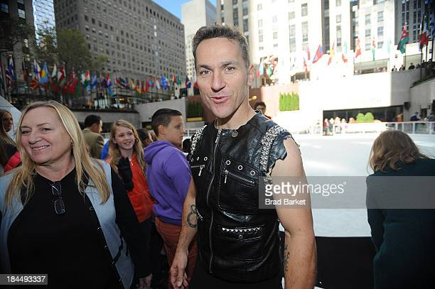 Canadian figure skater Elvis Stojko attends The Rink At Rock 20132014 season opening at The Rink at Rockefeller Center on October 14 2013 in New York...