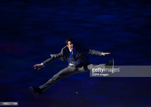 Canadian figure skater Jeffrey Buttle seen performing on ice during the show Revolution on Ice Tour show is a spectacle of figure skating on ice with...