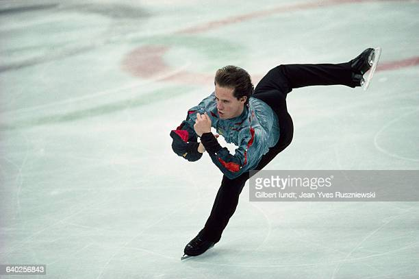 Canadian figure skater Kurt Browning performs at 1991 Trophee Lalique