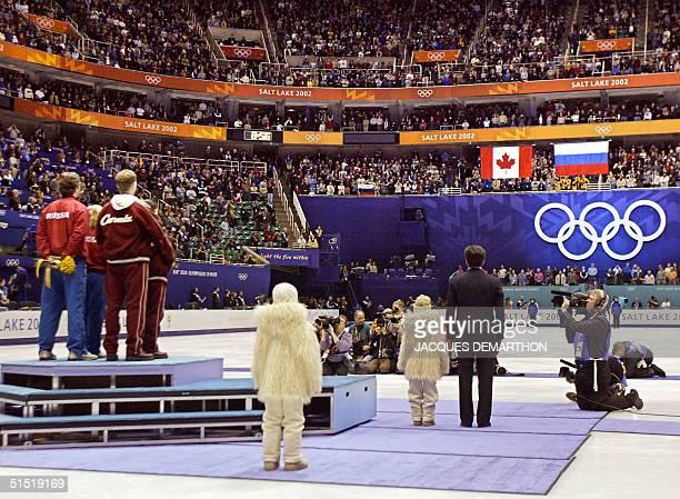 Canadian figure skating pair gold medalist Jamie Sale and David Pelletier Russian pair gold medalist Elena Berezhnaya and Anton Sikharulidze and...