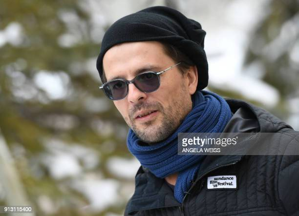 Canadian filmmaker Matthieu Rytz discusses his documentary Anote's Ark during the Sundance Film Festival on January 22 2018 in Park City Utah With...