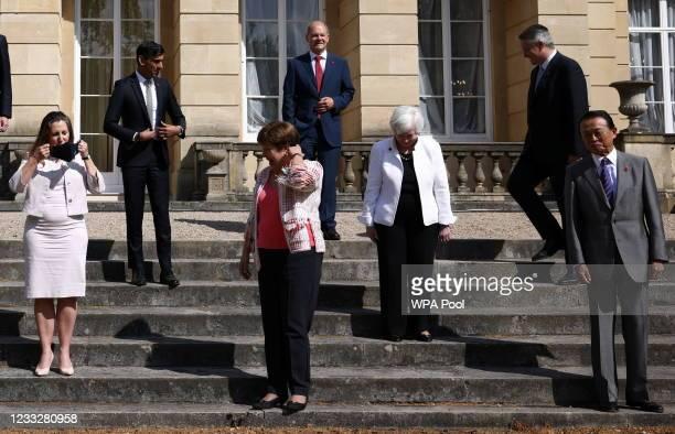 Canadian Finance Minister Chrystia Freeland, British Chancellor of the Exchequer Rishi Sunak, IMF Managing Director Kristalina Georgieva, German...