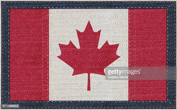 Canadian flag in denim