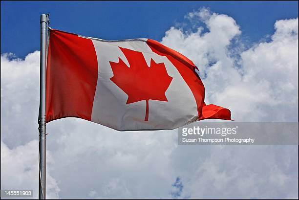 canadian flag - chatham new york state stock pictures, royalty-free photos & images