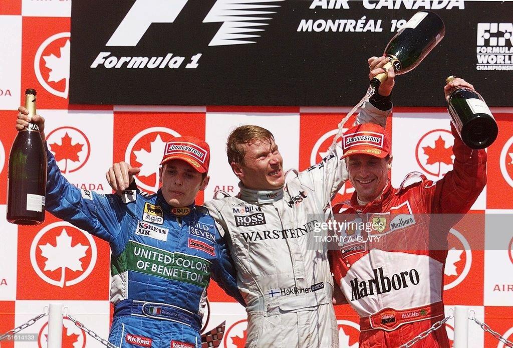 1999 Canadian Formula One Grand Prix winner Mika H : News Photo