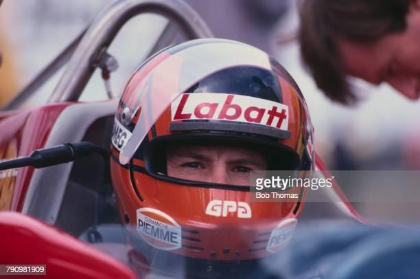 Canadian Formula One racing driver Gilles Villeneuve pictured in the driver's seat of the Scuderia Ferrari Ferrari 126CK Ferrari V6 during the 1981...