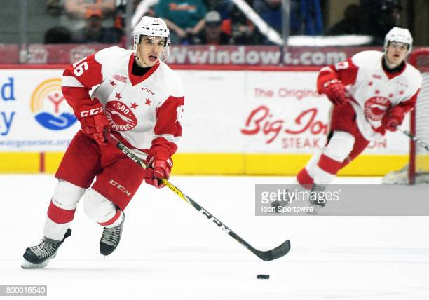 Canadian forward Morgan Frost is a projected midround pick in the 2017 NHL Entry Draft
