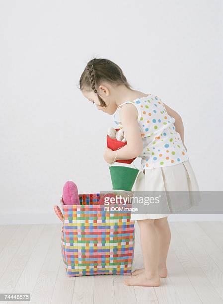 canadian girl carrying toys - 透けて見える ストックフォトと画像