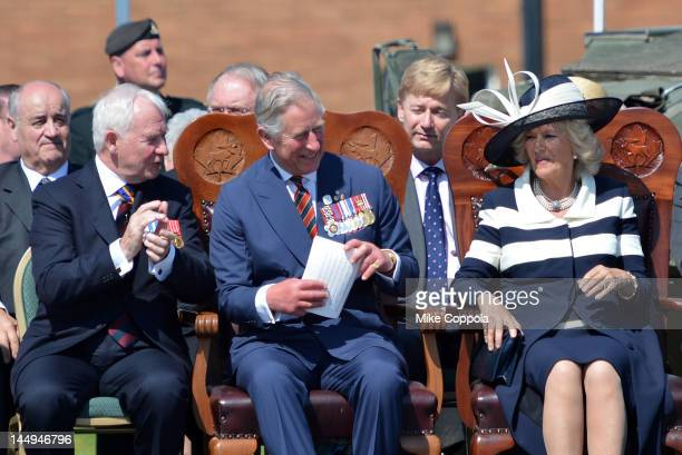 Canadian Governor General David Johnston, Prince Charles, Prince of Wales and Camilla, Duchess of Cornwall attend the official arrival to Canada...