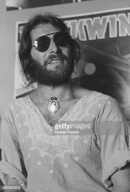 Canadian guitarist and bassist Paul Rudolph best known for his work with Brian Eno and Hawkwind July 1975