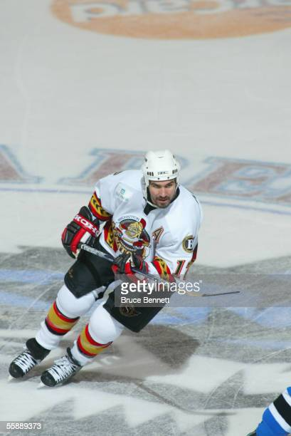 Canadian hockey player Denis Hamel left wing for the Binghamton Senators skates during a game with the Bridgeport Sound Tigers at the Bridgeport...