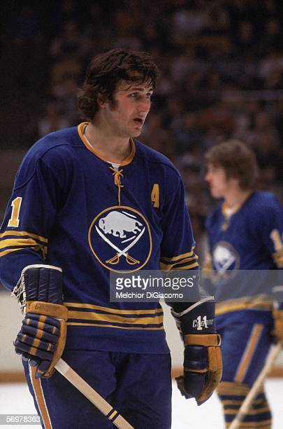 Canadian hockey player Gilbert Perreault of the Buffalo Sabres on the ice 1970s