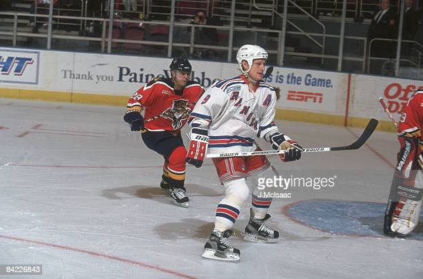 Canadian ice hockey player Adam Graves of the New York Rangers on the ice during a game against the Florida Panthers March 2000