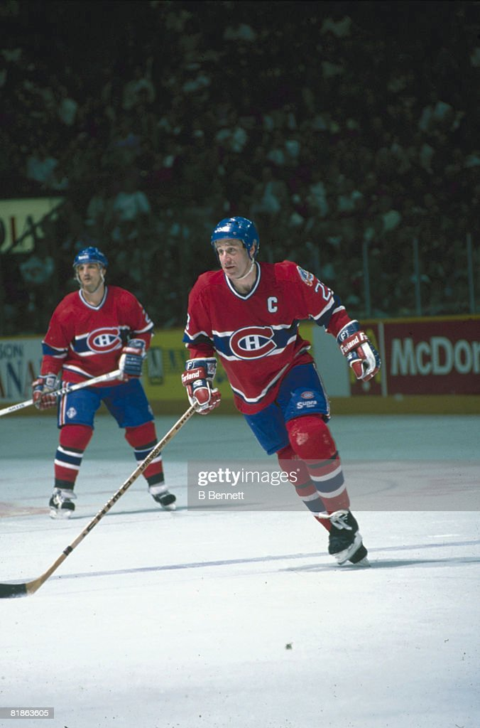 Bob Gainey On The Ice : News Photo